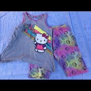 Used Hello Kitty Kids pajamas size xl